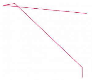 self-intersecting line
